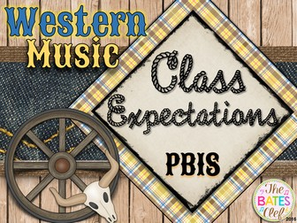Western Music Decor - Classroom Expectations