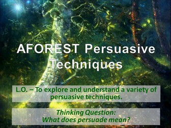 Persuasive Writing - AFOREST