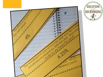 Percent: Word Problems Practice and Review Activity