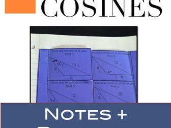 Law of Cosines: Notes and Practice on the Law of Cosines