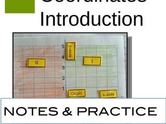 Cartesian Coordinates: Notes and Practice