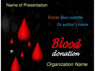 Medical powerpoint templates by templatesvision teaching resources blood donation powerpoint template toneelgroepblik Images