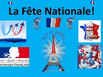 French Teaching Resources. La Fête Nationale. Bastille Day. Le 14 juillet. La Révolution Française.