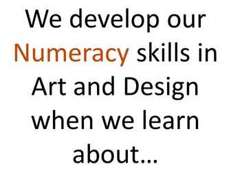 Numeracy in Art and Design