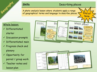 Geography - Skills - Describing Places