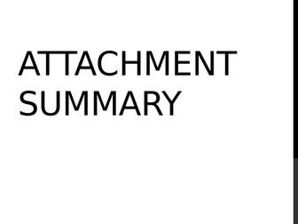 AQA Psychology - Attachment Revision / summary