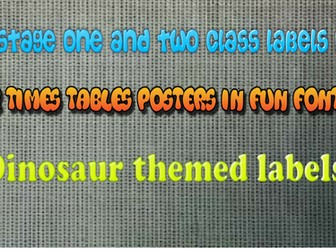 Dinosaurs themed Class Display Pack - Peg and Tray Labels, Target Cards, Weather map