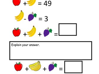 Picture maths problems