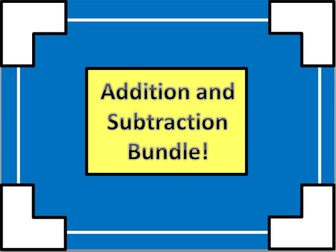 Addition and Subtraction Activity Bundle!