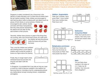 Singapore method - bar modelling: how to teach ratio