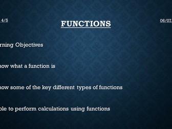 Functions (New GCSE 2015)