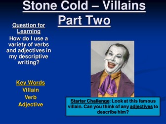 Stone Cold - Assorted Resources! (PowerPoints, Activities, Worksheets, Templates, etc.)