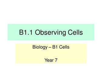 Activate KS3 Science - Module B1 Cells