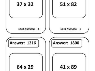 Multiplication Treasure Hunt