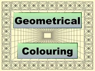 Geometrical Colouring Book