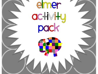 Elmer the Elephant Display and Activity Pack