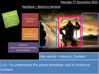 Kamikaze - Beatrice Garland - AQA Poetry