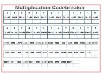Multiplication Codebreaker Activity