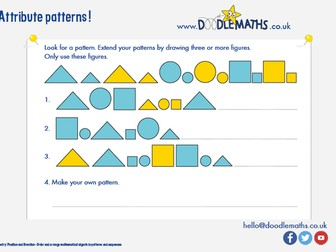 Maths starter: geometry and patterns