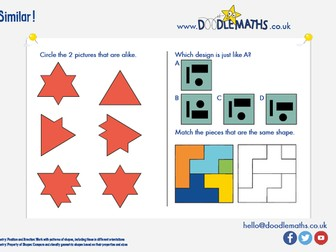 Maths puzzle: Which pictures are similar?