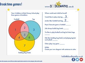 Venn diagrams, maths puzzles