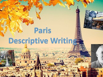 Paris - Summer Descriptive Writing One Off Lesson