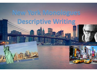 New York Writing Monologues - Fantastic One-Off Lesson