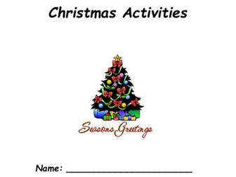 Printable Christmas Activity Pack