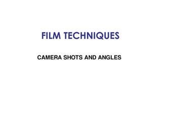 Camera shots and angles quiz