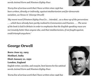 George Orwell factsheet