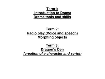 Introductory to Drama Yr 7
