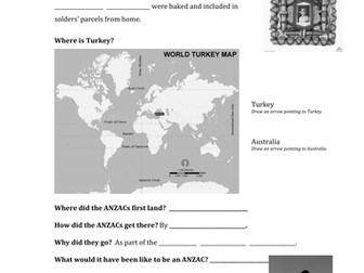 Exploring Anzac Day Worksheet