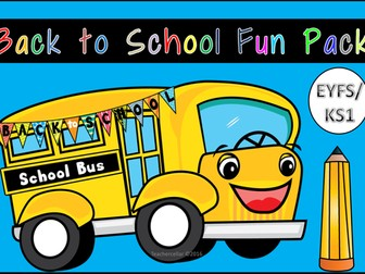 Back to School Fun Book