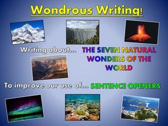 Wondrous Writing! Seven Wonders of the World - Sentence Openers