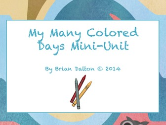 My Many Colored Days Mini- Literary Uni