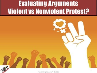 "Argument Analysis Activity ""Violent vs Nonviolent Protest"""