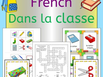Dans la classe - French classroom vocabulary - activities and games