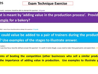 GCSE Business - Production Revision Resource