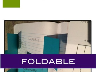 Arithmetic Sequence: Interactive Notebook Foldable for Arithmetic Sequence