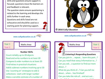 Continuous Provision Maths Area - Skills and Questions