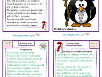 Continuous Provision Reading Area - Skills and Questions