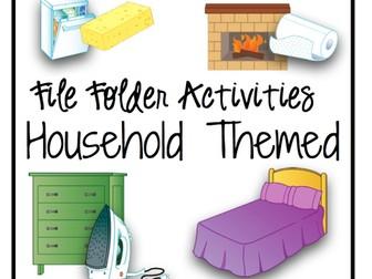 File Folder Activities {Household Themed}