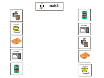 Visual Recipe to make beans on toast and supplementary resources.