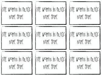 The Woman in Black Name Game & Timeline Activities