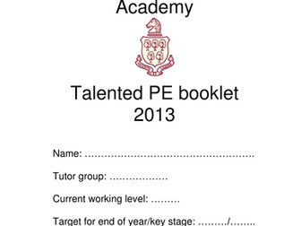Gifted and talented booklet