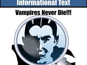 Non-Fiction Close Reading Vampires