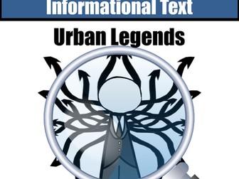 "Non-Fiction  Close Reading ""Urban Legends"" 4 Days Instruction"