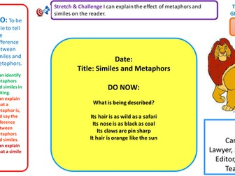 complete lesson - similes and metaphors