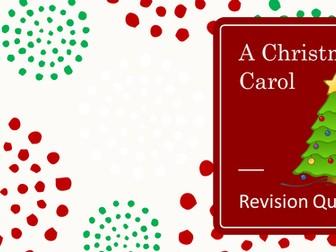 A Christmas Carol Revision Quiz