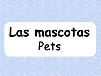Las mascotas (Pets - Spanish)